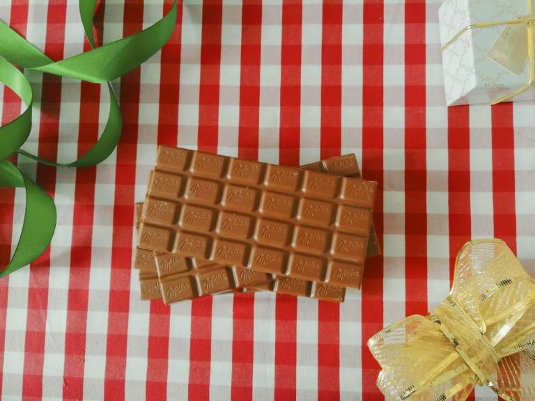 Schokolade für weihnachtlichen Schokoladen Bulli