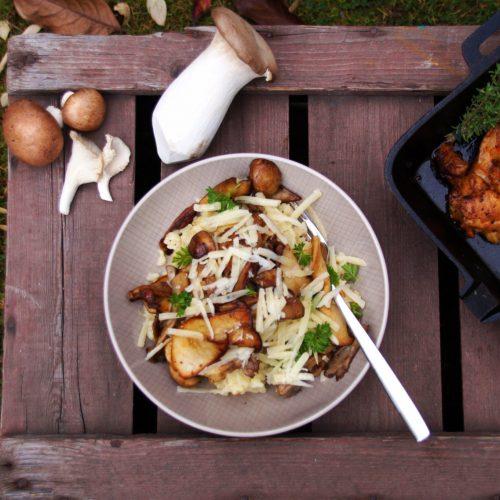 Parmesan-Risotto mit Pilzen