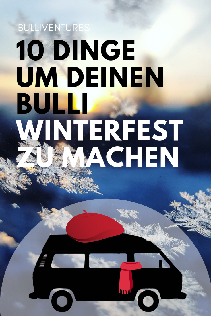 VW T3 Bulli vor Schnee und Eis
