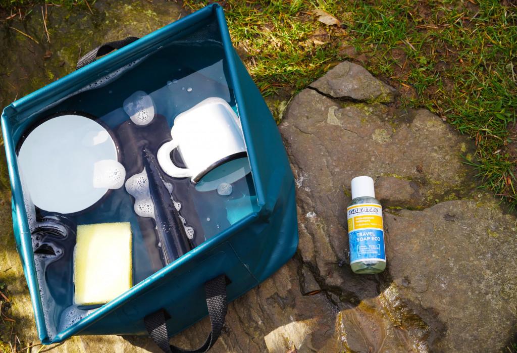 Biologisch leich abbaubare Seife, für ein umweltbewusstes Leben im Bulli
