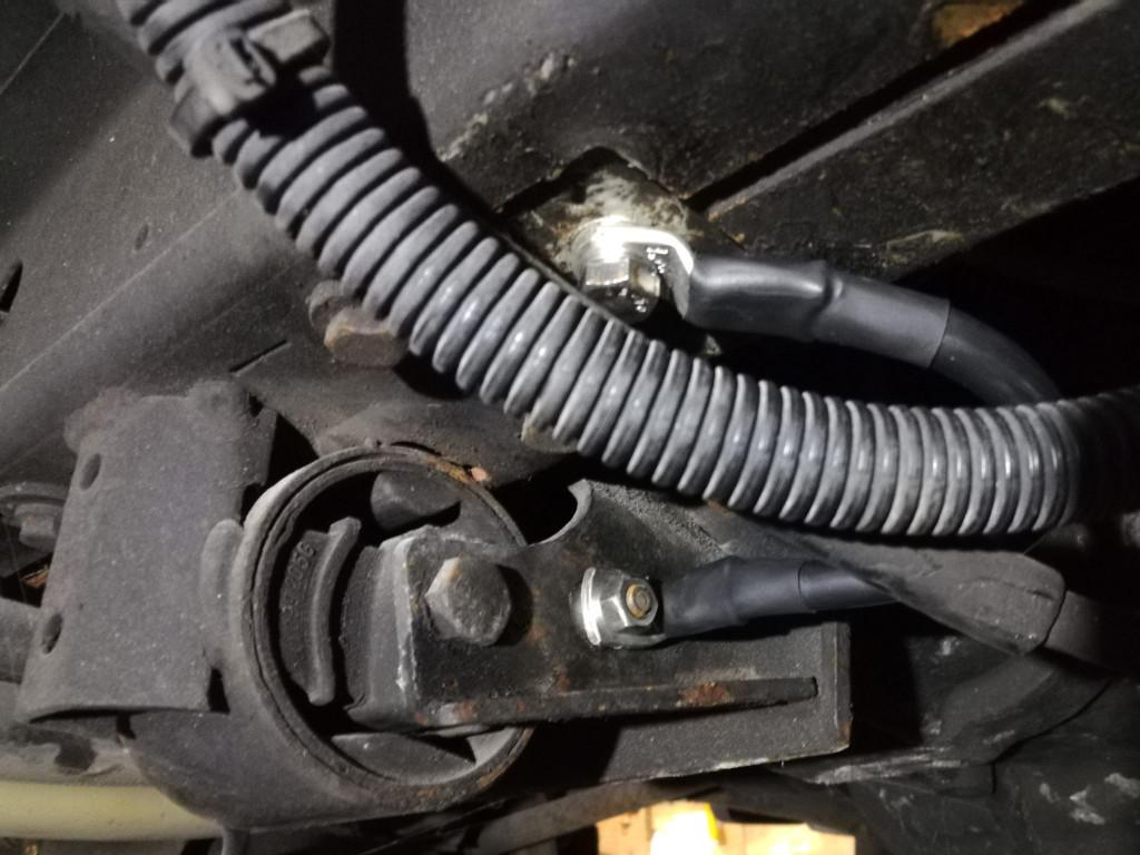 Massekabel zwischen Getriebe und Karosserie VW T3