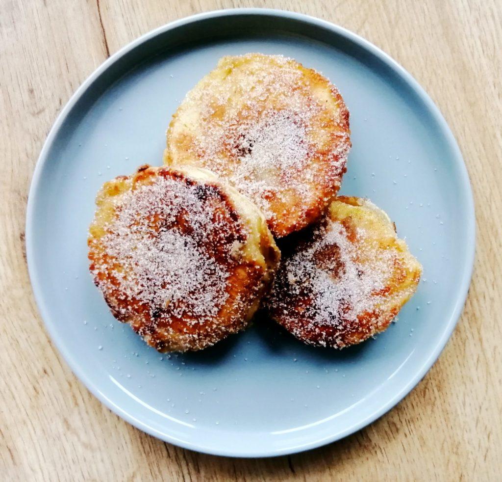 Zimt Zucker Apfel Pfannkuchen