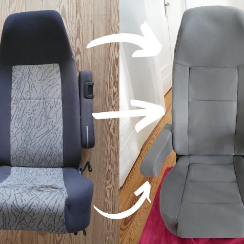 Bulli-Sitze selber neu beziehen – Teil 2