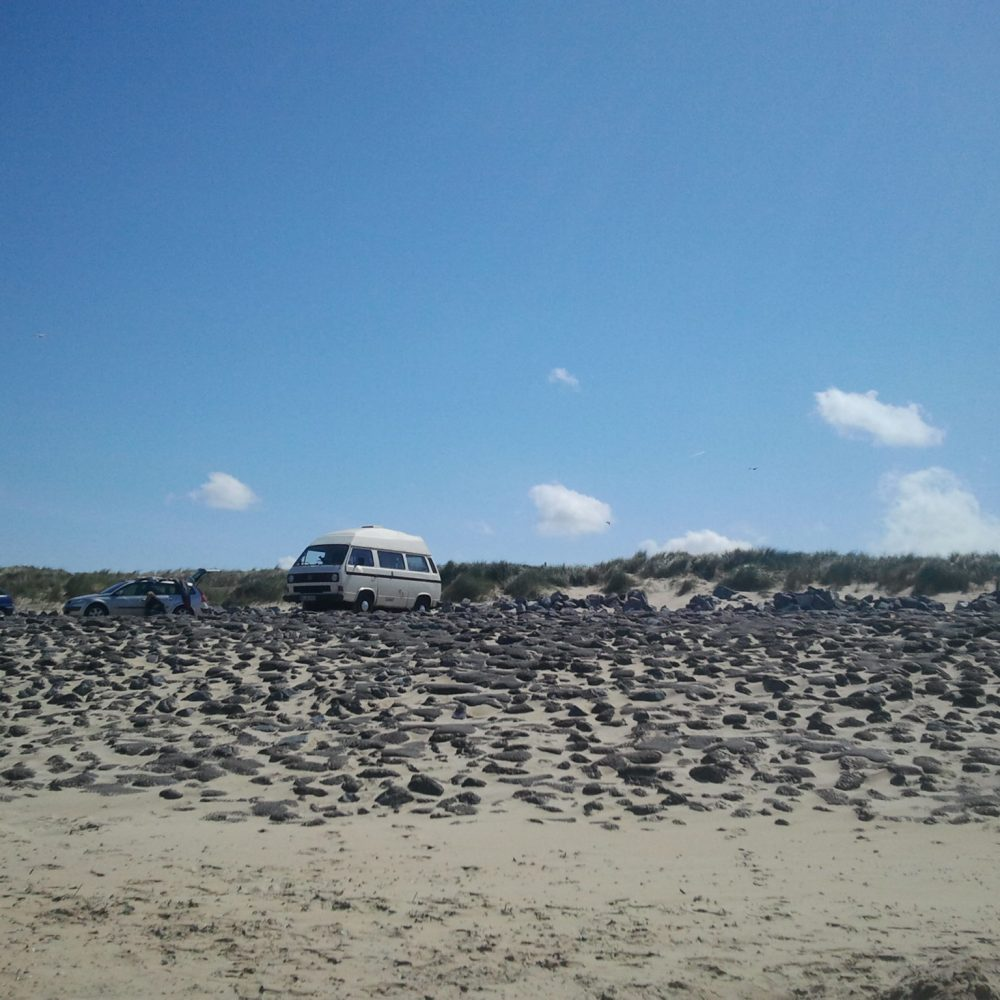 VW Bulli Holland Strand Meer Gadgets Campen