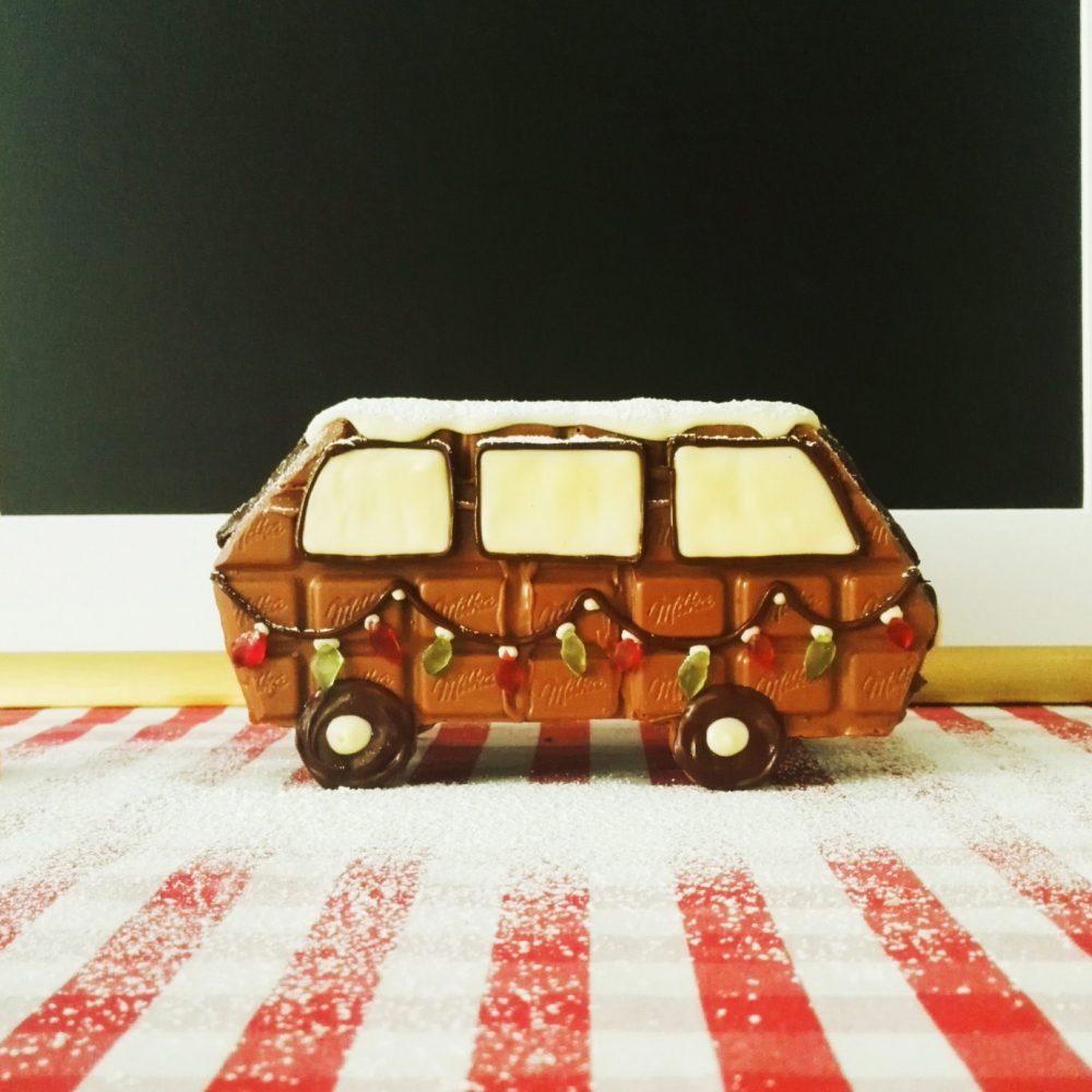 VW T3 aus Schokolade weihnachtlich
