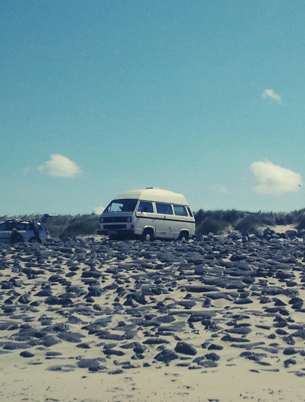 Bus VW Auf Strand