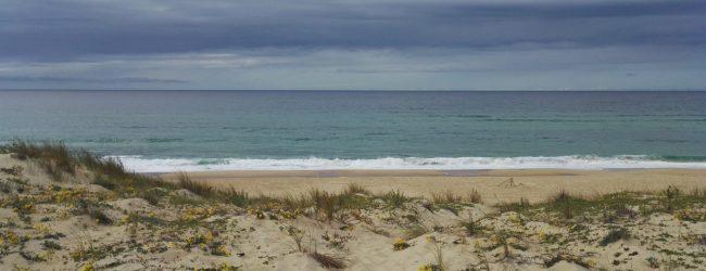 Strand Himmel Gewitter Wolken Sand
