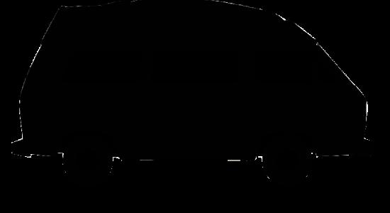 VW T3 Bulli Umriss schwarz